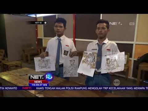 Intip Lukisan dari Ampas Kopi Karya Siswa SMA ini Deh, Keren! NET10