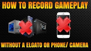 HOW TO RECORD YOUR XBOX WITHOUT A ELGATO OR CAMERA / PHONE