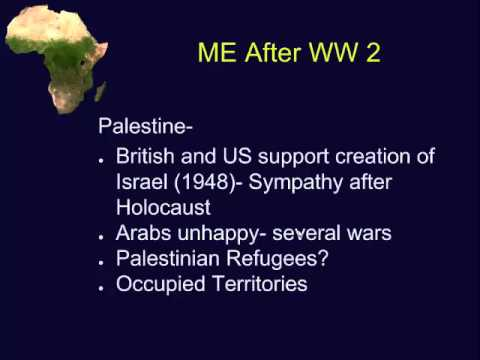 Decolonization Middle East