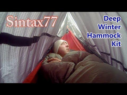 Deep Winter Hammock Camping System