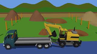 🚜 Fairy Tales for Kids 3D part 5 Compilation   Bajki Dla Dzieci - Traktory Koparki i Inne cz.5 🚜
