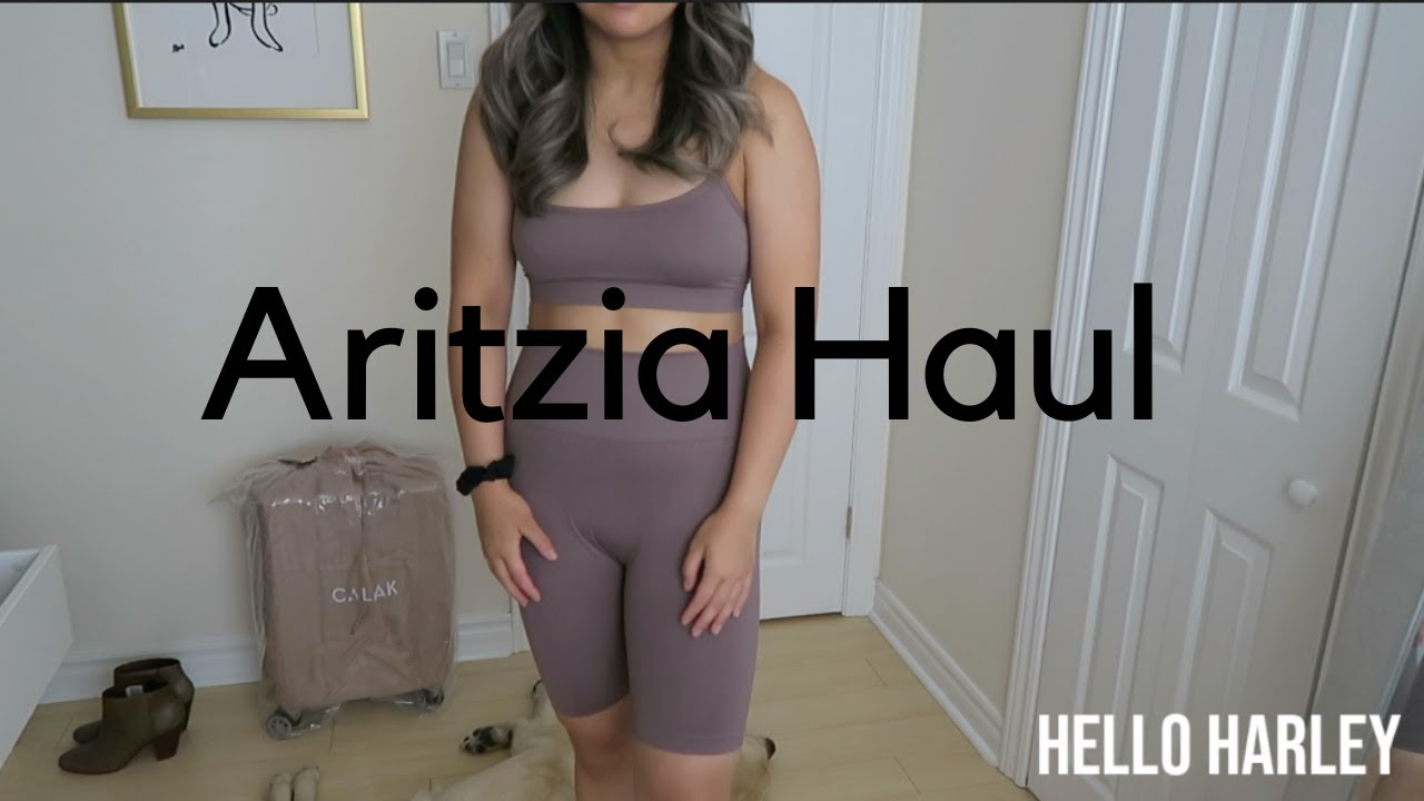 Aritzia Try On Haul! *New SEAMLESS ATMOSPHERE SHORTS