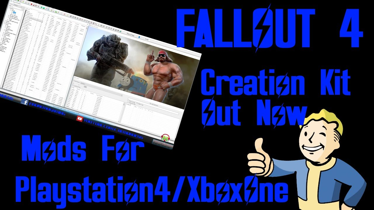 FALLOUT4 : Creation Kit And Console Mods For PS4/XboxOne - how to install  creation kit