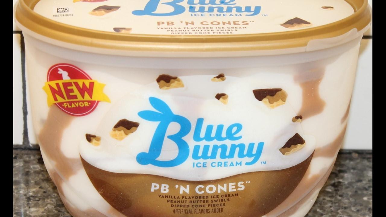 Blue Bunny Ice Cream Pb N Cones Review Youtube