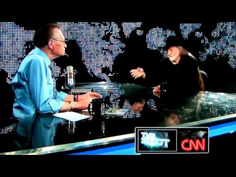Willie Nelson  and Larry King  Smoking Pot on CNN