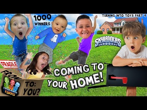 SKY KIDS COMING TO YOUR HOME!!? 1000 Winners! (Augmented Reality 3D Fun | Turning Into Toys pt. 4)