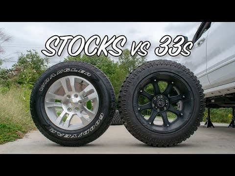 Stock Tires vs. Aftermarket 33x12.50s!!