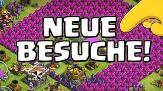 CLASH OF CLANS - NEUE BESUCHE! || Let's Play CoC [Deutsch/German HD+]