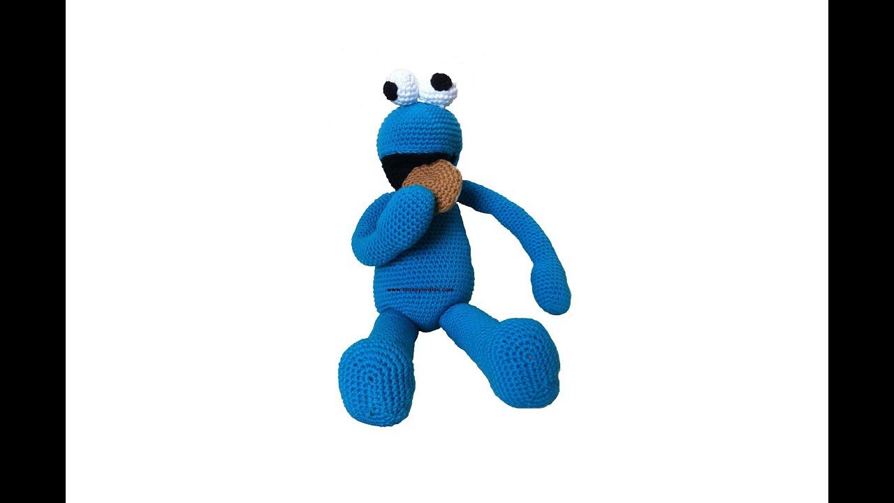 Tutorial Monstruo Galletas Amigurumi Cookie Monster (4-4) (English ...
