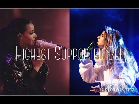 Highest Supported Belt | Female Western Singers