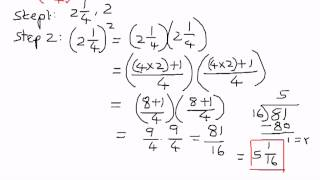 Exponents-Mixed Fractions Examples