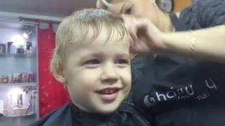 Cтрижка для мальчика.(Стрижка для мальчика машинка+ножницы. Стрижем мальчика в парикмахерской (салоне красоты). Стрижем ребенка..., 2016-11-01T21:05:58.000Z)