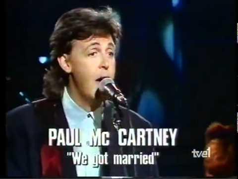 "Paul McCartney ""Spanish TV La Luna"" - Barcelona, Spain - June 1989"