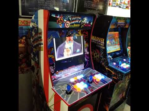 Arcade1up Street Fighter cabinet converted to Captain America and the Avengers from 1HealthPlays Onstot