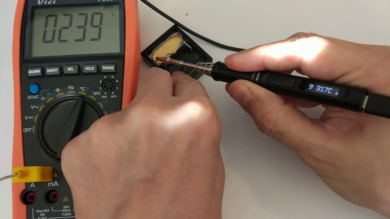 TS80 Soldering Iron with custom firmware
