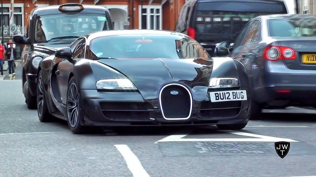 Bugatti Veyron 16.4 SuperSport Nearly Loses Control in London! FAST Accelerations!