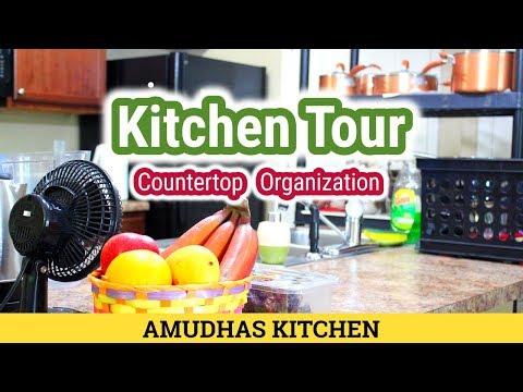 Kitchen Tour |  Indian USA Kitchen | Counter Top Organization | Kitchen Arrangements