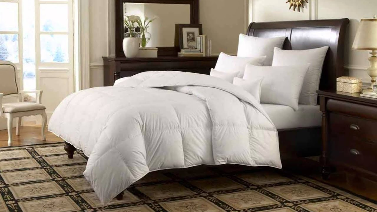 review chezmoi collection white goose down alternative comforter youtube. Black Bedroom Furniture Sets. Home Design Ideas