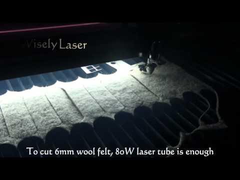 CO2 laser engraving/cutting machine--cutting lint & wool felt by MY-L1490