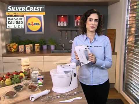 Batidora amasadora con recipiente lidl espa a youtube for Robot cocina lidl opiniones