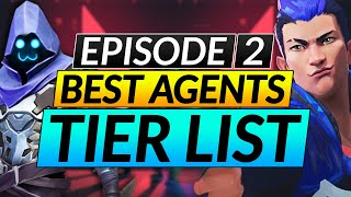 BEST AGENTS of tнe NEW Episode 2 Update - TIER LIST for Patch 2.0 - Valorant Guide