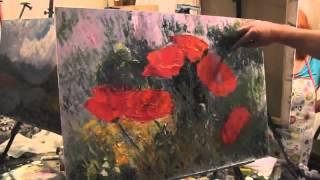 Бесплатный видео урок Маки в траве Игорь Сахаров
