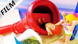 Playmobil Film Deutsch FALLTÜR-RUTSCHE IM AQUAPARK! NEUE ATTRAKTION IN PLAYMOBIL CITY! Familie Vogel