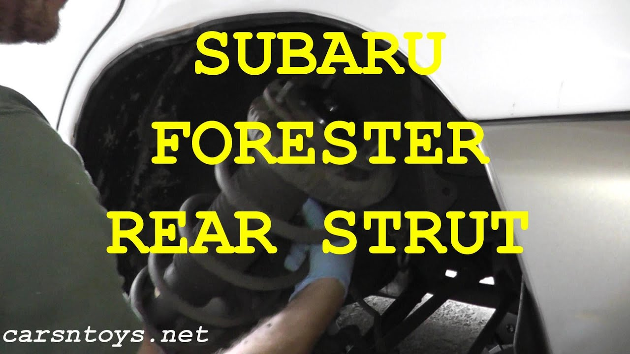subaru forester rear shock strut replacement with basic hand tools [ 1280 x 720 Pixel ]