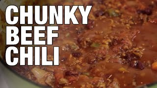 The Best Chunky Beef Chili Recipe | The Hungry Bachelor