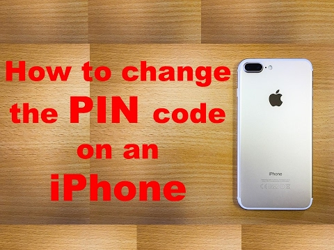 how to change the pin code on an iphone youtube. Black Bedroom Furniture Sets. Home Design Ideas