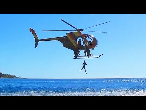 5 YR OLD Jumps Out Of Helicopter Into Ocean! BEST TOURS OF HAWAII