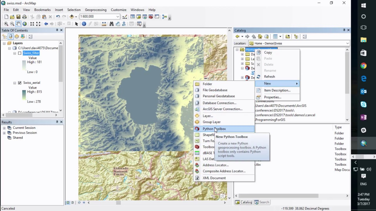 Python: Developing Geoprocessing Tools