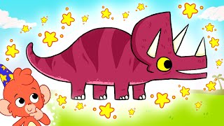Club Baboo | A Triceratops and other DINOSAURS in the Dinosaur ABC | Learn the Alphabet with Baboo