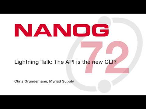 Lightning Talk: The API is the new CLI?