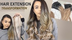 Hair extension TRANSFORMATION - DIY ombre, blending & styling