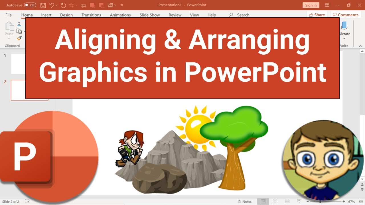 Aligning and Arranging Graphics in PowerPoint
