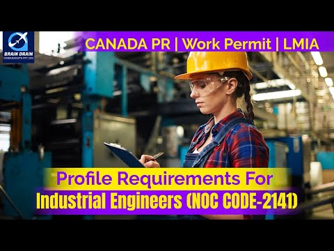 Engineers (Manufacturing) - Profile Description for Canada Work permit, LMIA and PR | NOC CODE 2141