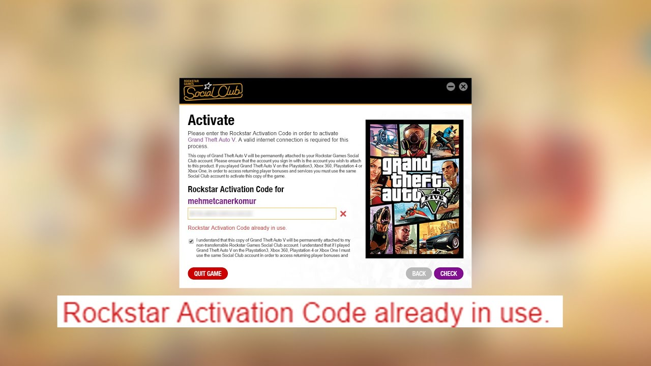 rockstar activation code grand theft auto v