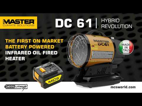 MASTER DC 61 - the first battery powered infrared oil heater in the market - introduction