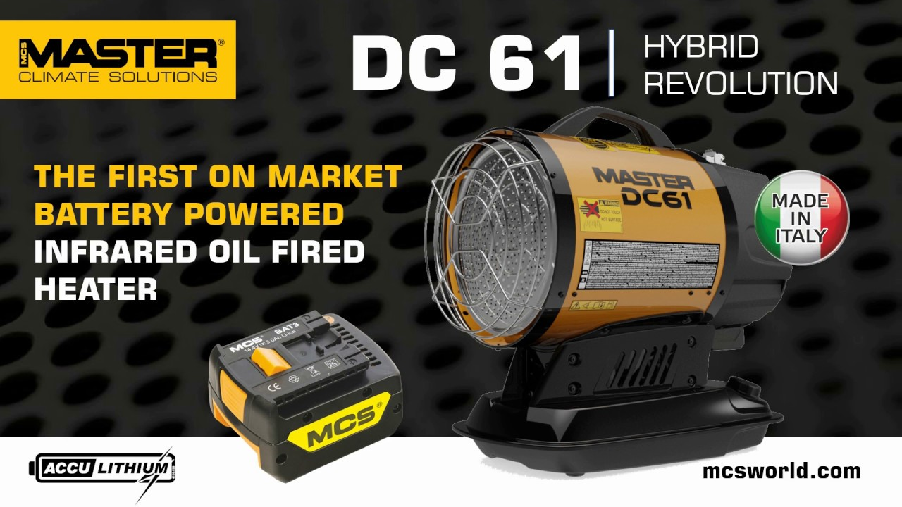 Master Dc 61 The First Battery Powered Infrared Oil Heater In