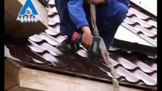 видео Монтаж металлочерепицы своими руками