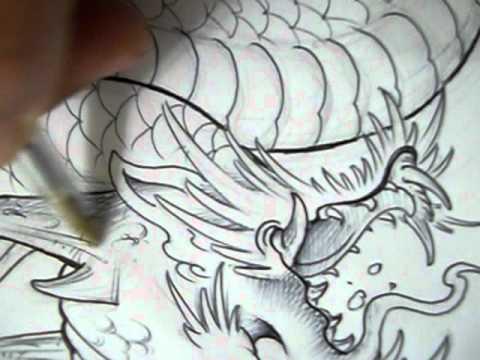 nivaldo dede tattoo desenho de dragao