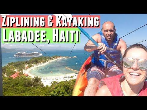 DAY 7 Royal Caribbean Cruise to Labadee, Haiti. Over the water zipline in Haiti! CRUISE COUPLE VLOG