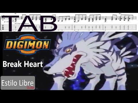 Digimon brave heart guitar fingerstyle tab