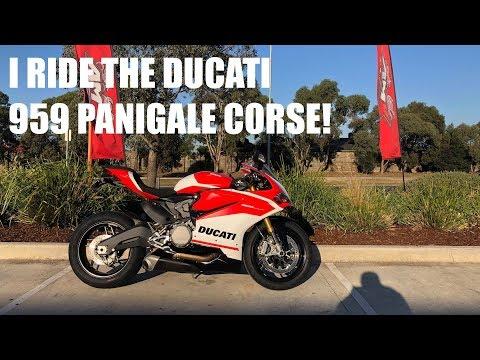 I ride the new 2018 Ducati Panigale 959 Corse!