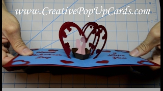 Repeat youtube video Tunnel of Love Pop Up Card Tutorial for Valentine's Day