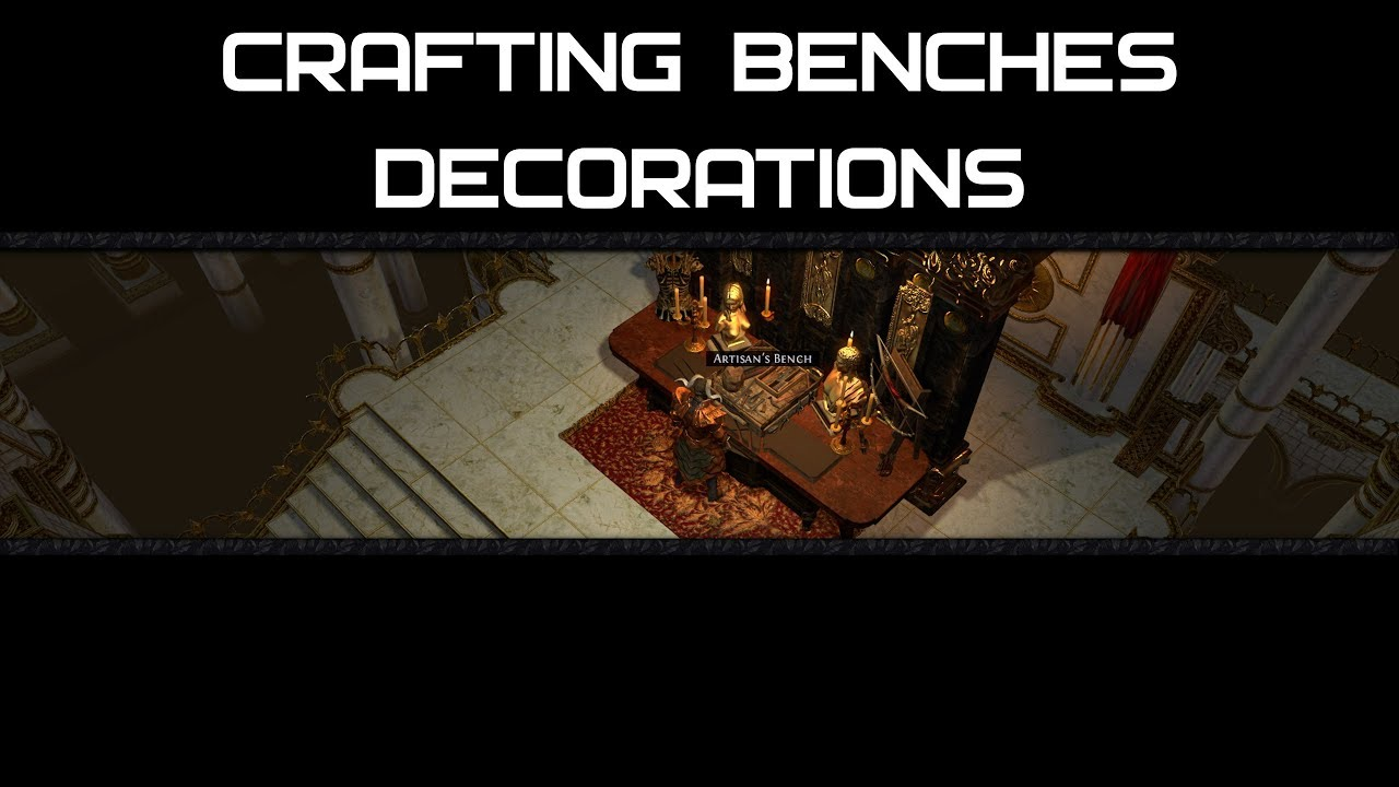 crafting benches decorations part i separate decorations
