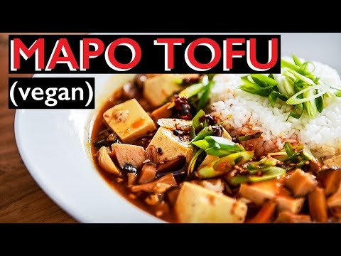 VEGAN MAPO TOFU RECIPE | HOW TO MAKE SPICY DOUBANJIANG DOUFU (麻婆豆腐)