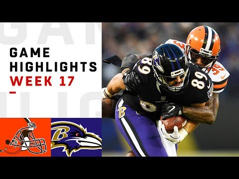 Browns vs Ravens Week 17 Highlights  NFL 2018