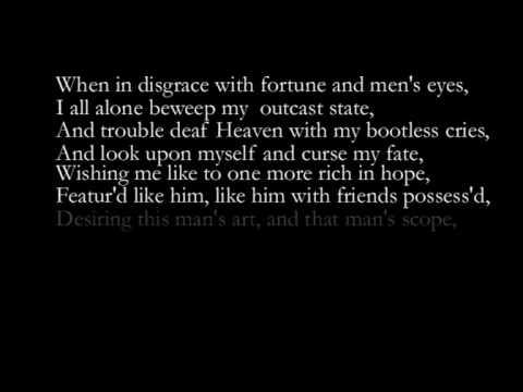 Rufus Wainwright - Sonnet  29 - Shakespeare